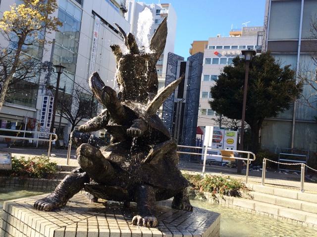 亀戸駅前の亀の噴水