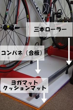 自転車の 自転車 室内 ローラー : 犬トコロニヨリ猫 ローラー台 ...