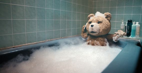 お風呂に入っているTED