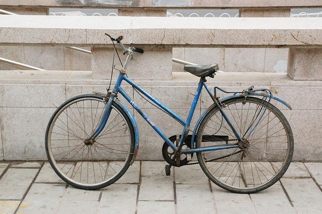 古い自転車