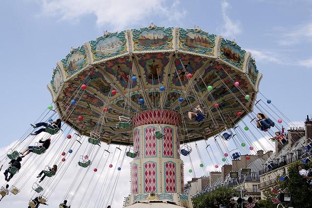チュイルリー公園の夏のフェスティバル
