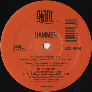 HH_HAMMER_DONT STOP DO IT ROGER MIX_201311