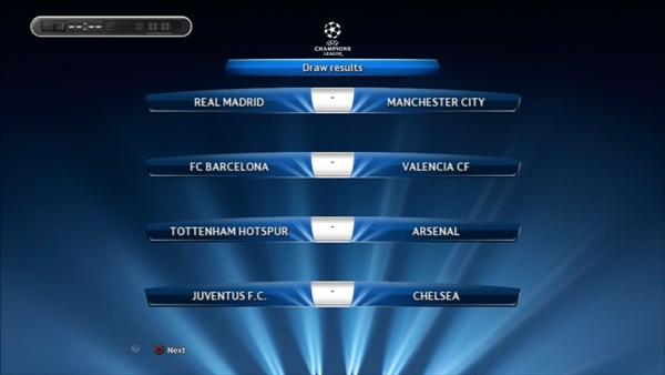 1年目UEFA CL準々決勝対戦カード