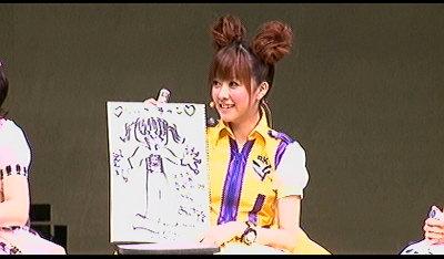 描いた佐紀ちゃん。
