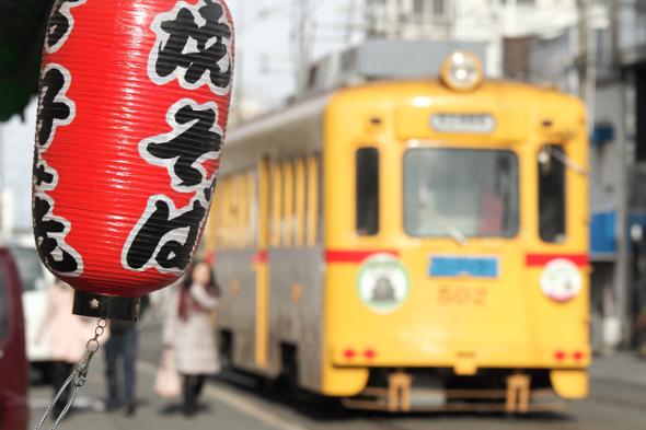 2013/1/3 阪堺電軌上町線 帝塚山3丁目~帝塚山4丁目