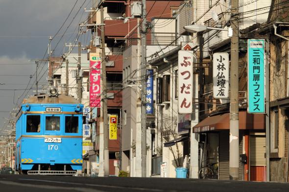 2013/1/3 阪堺電軌上町線 姫松~帝塚山3丁目