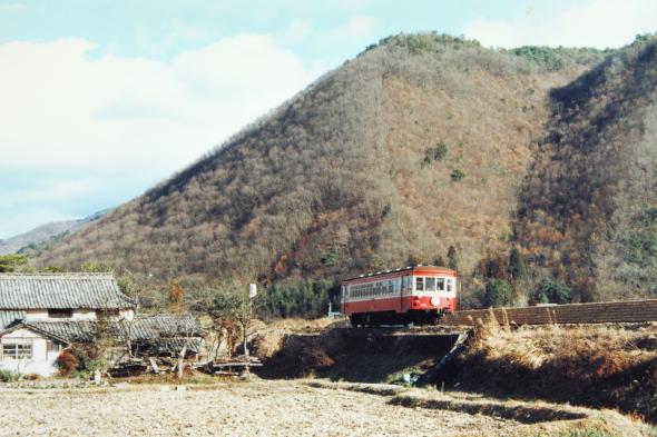 1987年1月 同和鉱業片上鉄道 備前塩田~杖谷