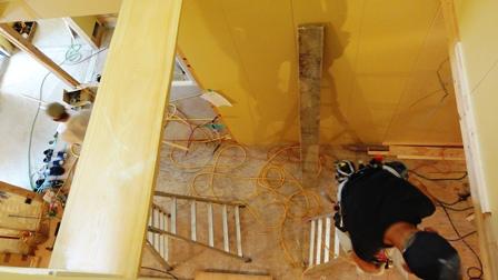 2階より下見おろし