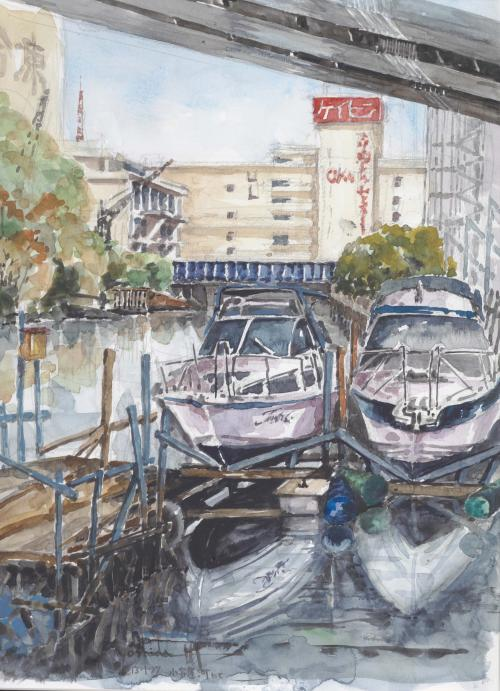 子安運河にて(F6)