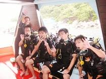 ダイビング タオ島 ダイバーteppei,daichi,makoto,ryutaDSD