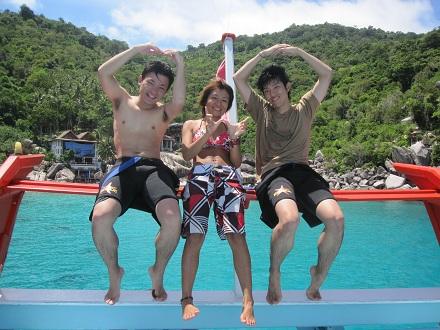 タオ島 ダイバー