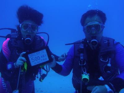 タイ タオ島 ダイビング 記念ダイブ