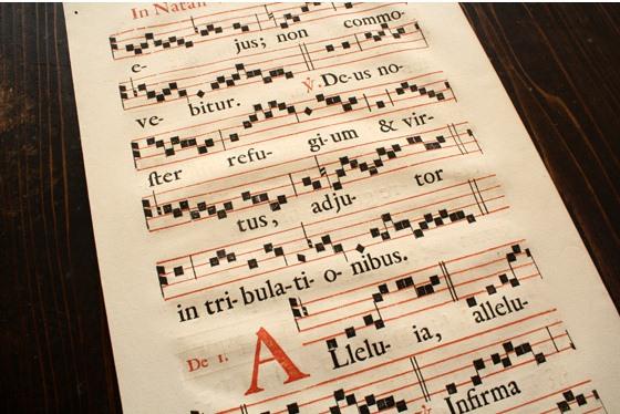 GregorienA4グレゴリオ聖歌17世紀楽譜