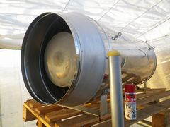 [写真]ポレポレ農園の暖房機兼二酸化炭素発生機