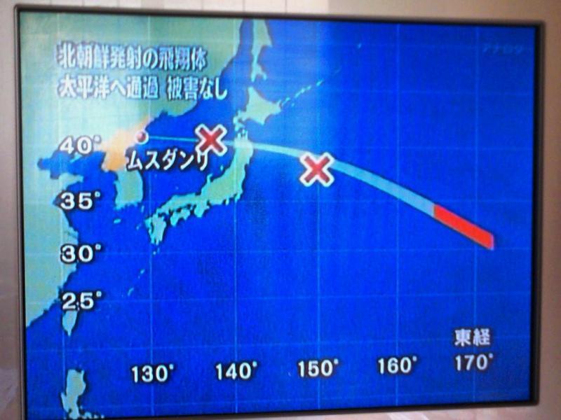 ミサイル経路