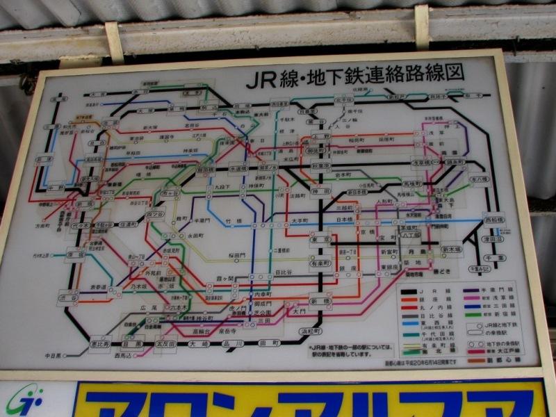 JR・地下鉄乗り換え図