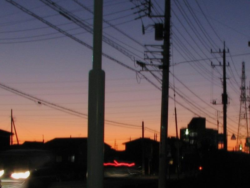 きれい(?)な夕日