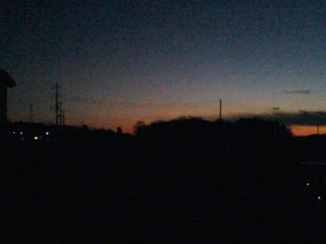 むなしい夕日