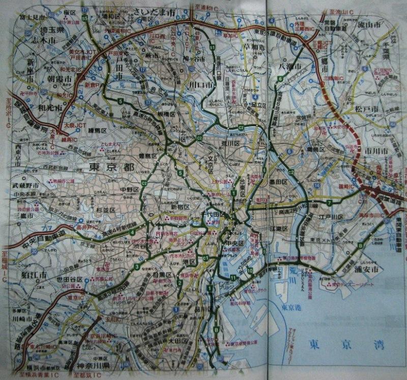 東京の高速道路網