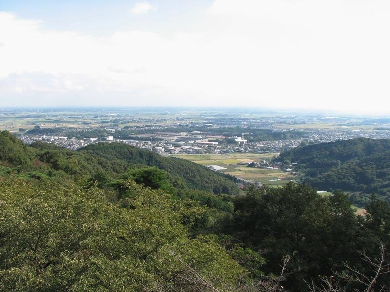 関東平野が丸く見える