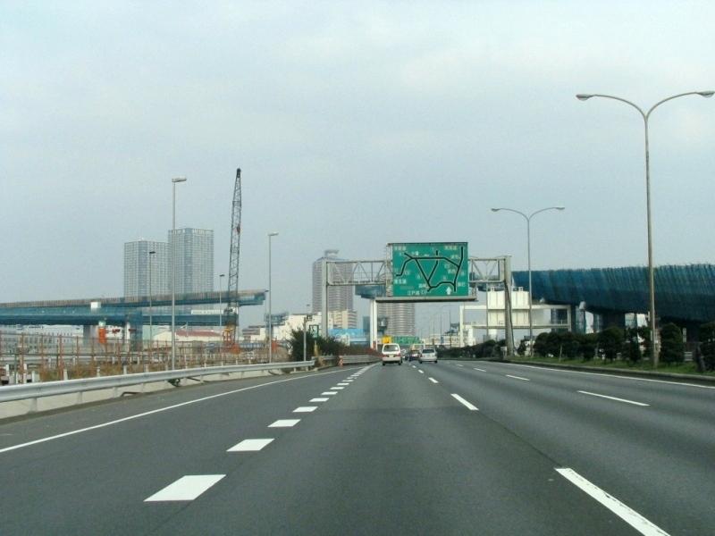 建設中の東雲JCT