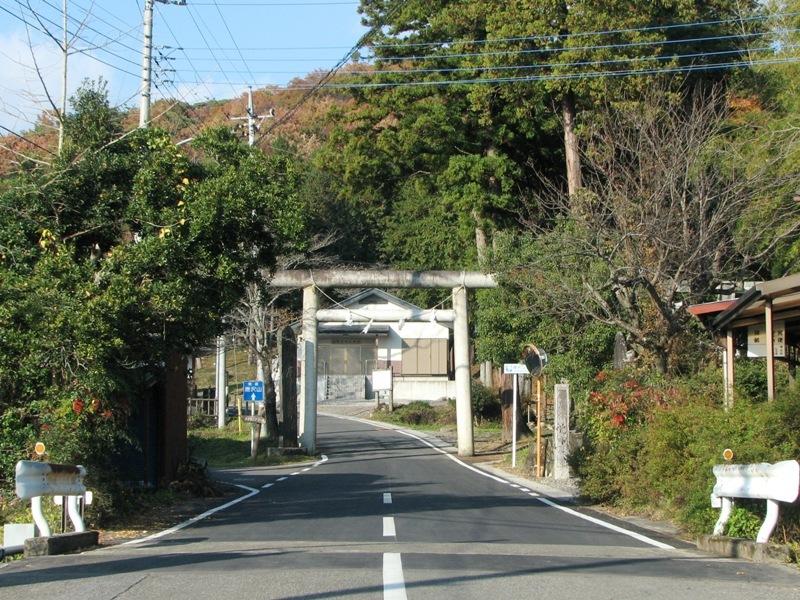 県道 唐沢山入り口