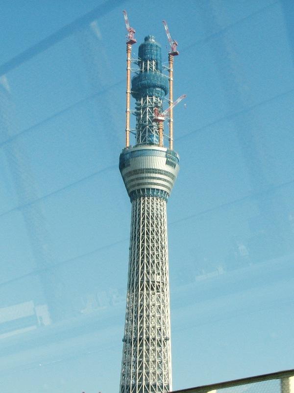 500mを突破した東京スカイツリー