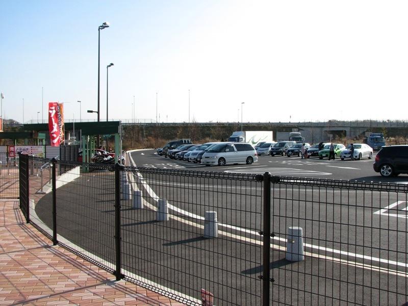 北関東道常磐道方面駐車スペース