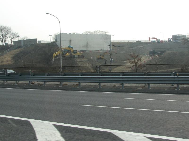 佐野スマートIC建設中