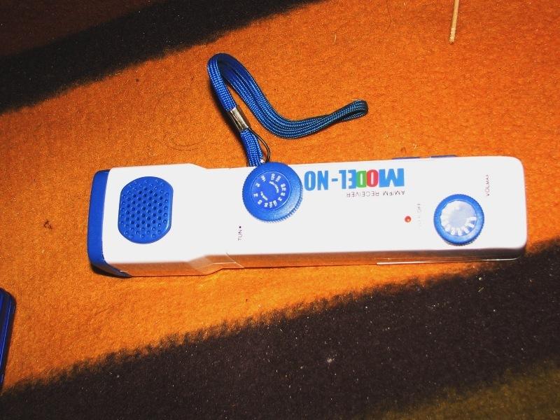 ラジオ付き懐中電灯