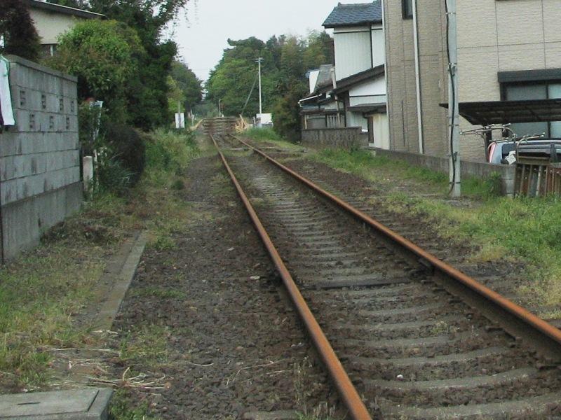 ひたちなか海浜鉄道 不通になった線路
