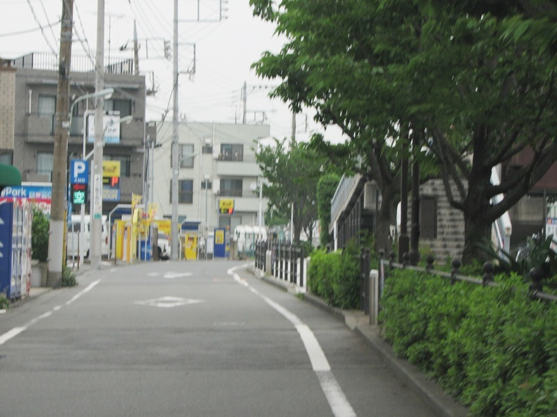 海老取川沿いの細い道