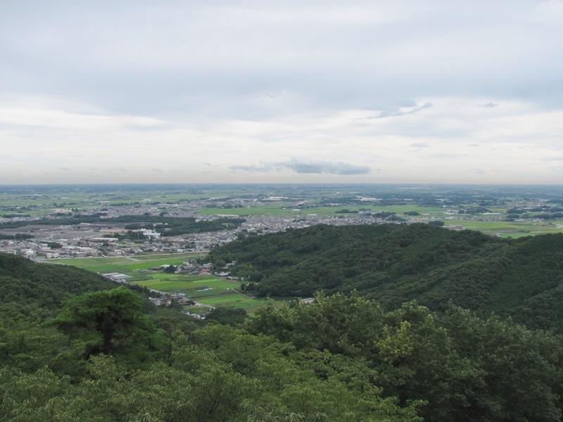 関東平野を一望