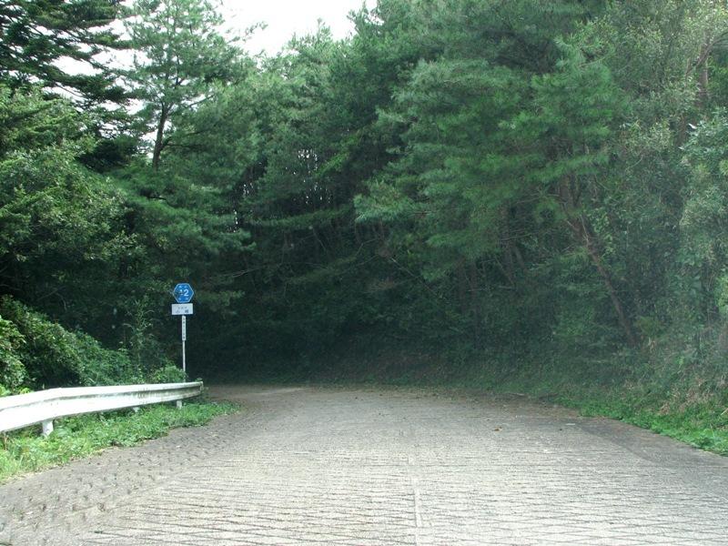 狭くても県道です