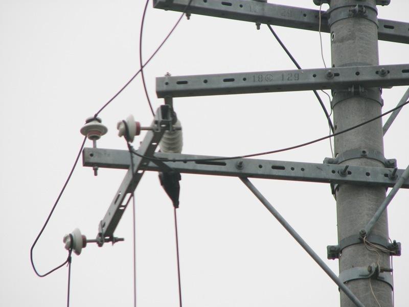 電柱のてっぺん