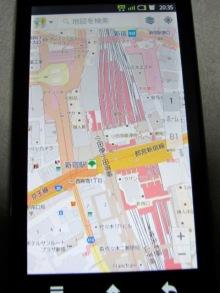 新宿駅周辺の地図