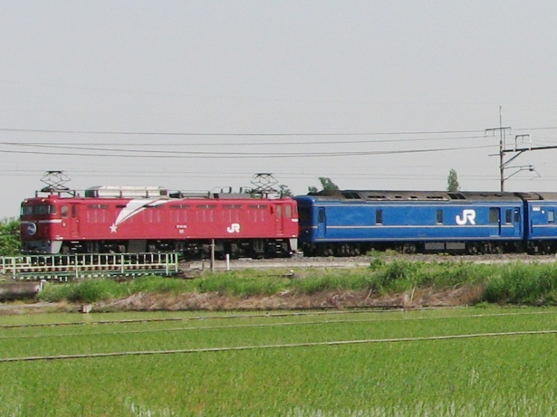 機関車と電源車