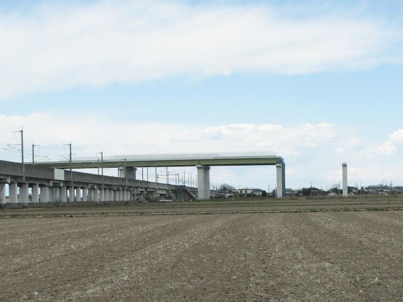 東北新幹線をまたぐ