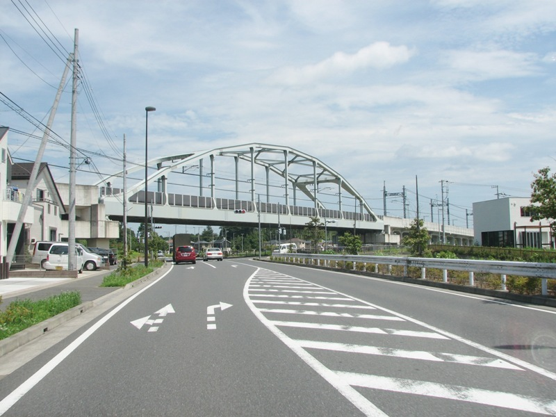立体交差 清水公園駅付近