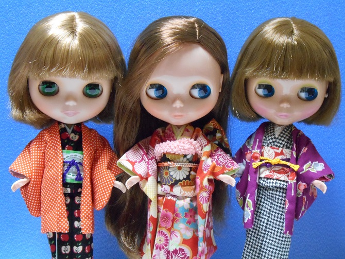 16 girls in Kimono