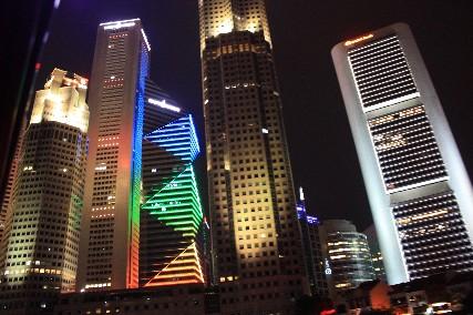 シンガポールナイトビル群
