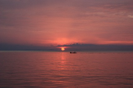 ビンタンケロンの夕日小