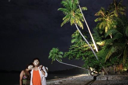 ニルワナビーチ夜のお散歩