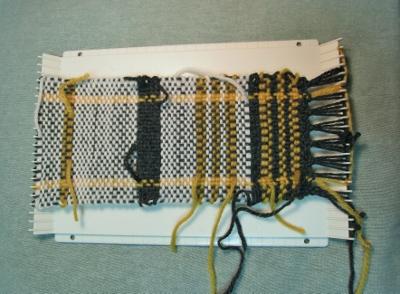 毛糸で練習