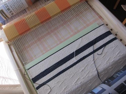 ランチョンマット織り完了