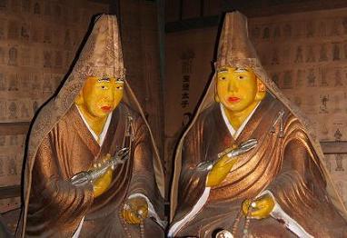 下部温泉・謎の加持祈祷所 弘法大師像