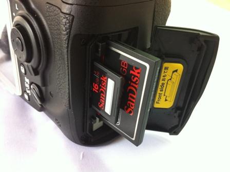 サンディスクSDカード ニコンD300s
