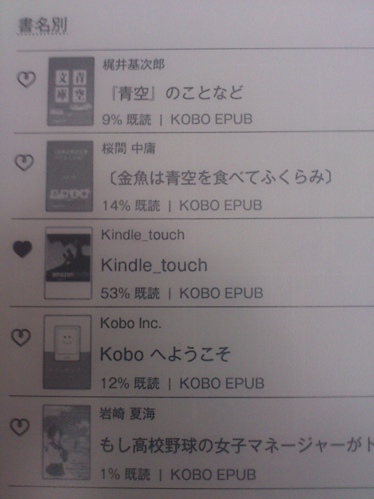 Kobo touch Kindle