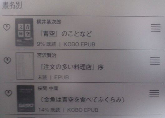 kobo touch コボタッチ 保存先 内蔵SDカード