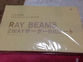 ブランド「RAY BEAMS」2WAYボーダーBIGトート